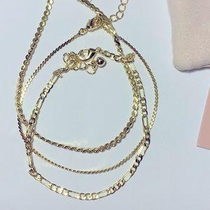 Uncommon James Gilded 14 K Gold Bracelets set of 3